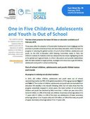 One in Five Children, Adolescents and Youth is Out of School