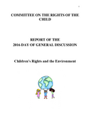Children's Rights and the Environment